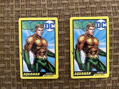ROUND 1 ARCADE RARE AQUAMAN CARD SET OF 2 From DC Coin Pusher Game