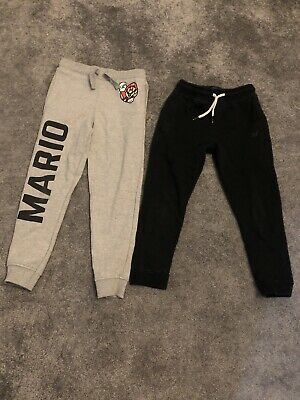 Boys Next Age Size 6 / 6-7 Years Joggers Jogging Bottom Trousers Bundle Mario