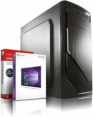 Intel Core i7 2600 Computer Business PC • 16GB • 256GB SSD + 1TB •  Win 10