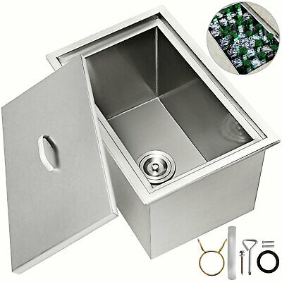 "23""X17"" Drop In Ice Chest Bin With Cover Beer Beverage Wine Chiller Water Pipe"