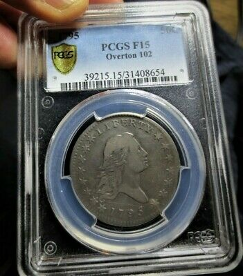 1795 Flowing Hair Half Dollar PCGS F15