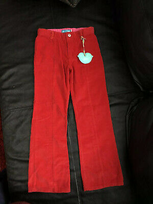 Girls Mothercare Red Trousers Age 6-7 Years BNWT