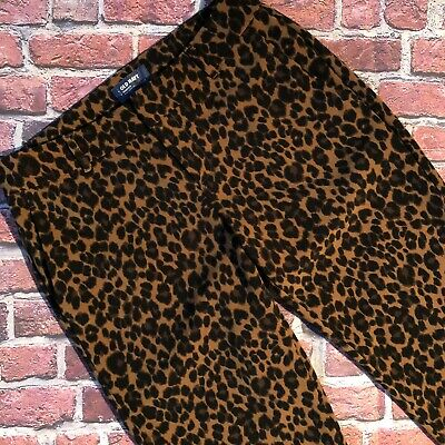 Old Navy Harper Animal Print Cheetah Pants Cropped Womens 6 R Career Casual