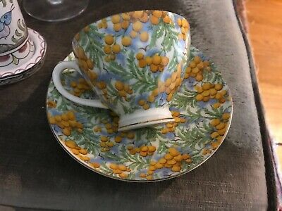 Vintage Golden WATTLE  Chintz English Cup and Saucer, Empire