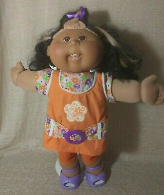T2  Play Along Cabbage Patch Kid, CPK, Orange Outfit, Black/Peach Hair, Teeth