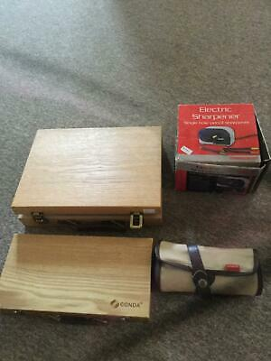 Artist Boxes and Artist Storage and Electronic Sharpener