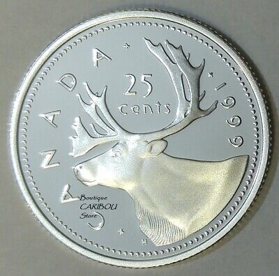 1999 Canada Silver Proof Caribou 25 Cents