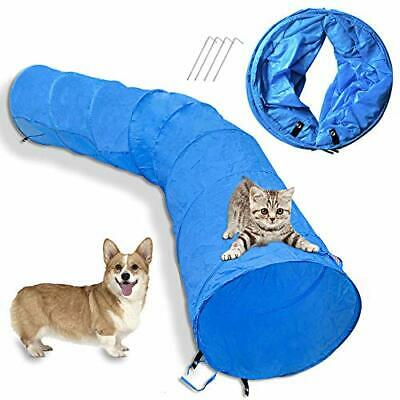 Cossy Home Collapsible Cat Tunnel Tube Kitty Tunnel Pet Toys Peek Hole (79inch)