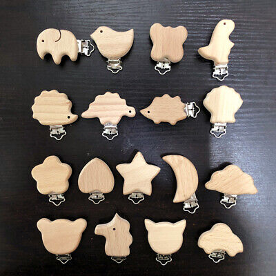 Wood Nipple Chain Pacifier chain DIY Teether Pacifier Clip Teether Accessories