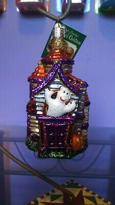 OLD WORLD CHRISTMAS MINIATURE GHOST GLASS HALLOWEEN HOLIDAY ORNAMENT 26026
