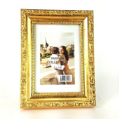 PICTURE FRAME BRIGHT GOLD ORNATE 20 x 24 Number 637//613 Slight Damage Photo