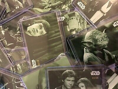 Topps 2020 Star Wars Black And White Return Of The Jedi -Green Hue - You Pick-
