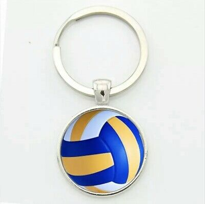 Yellow keyring present chain gift rugbyball Splay Rugby Ball Key Ring