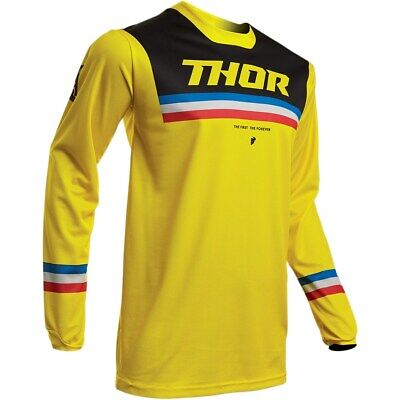 Thor Jersey Pulse Pinner S20 yellow/black Enduro Fahrerhemd