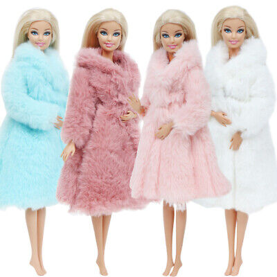 1PC Fur Coat Tops Dress Winter Casual Wear Clothes Accessories For Barbie Doll