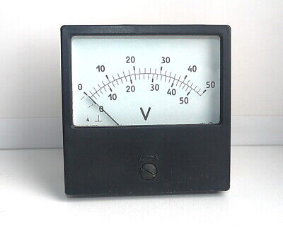 AC / DC 0-50V Analog Dial panel Voltage Gauge Volt meter , USSR, RARE!