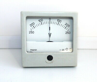 DC 250-0-250V Analog Dial panel Voltage Gauge Volt meter, USSR RARE! Lot of 1 pc