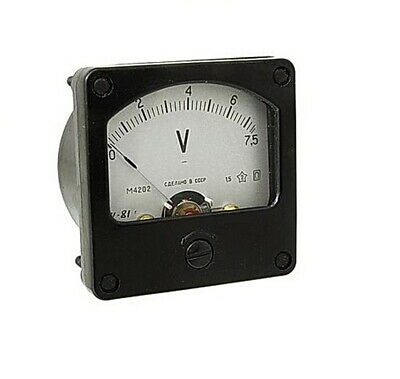DC 0 - 7,5V Analog Dial panel Voltage Gauge Volt meter , USSR, RARE!