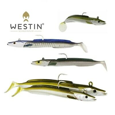 Westin Sandy Andy Jig 23cm 150g 2+1pcs Saltwater Sea bait Eel imitation NEW 2019