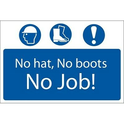 Draper 72916 'No Hat, No Boots, No Job' Mandatory Sign