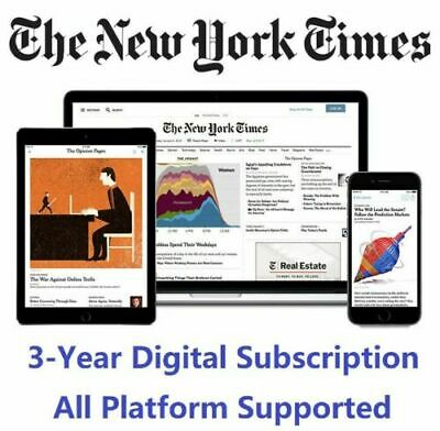The New York Times 3-Year Digital Subscription All Platforms Region Free