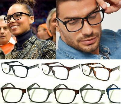 Trendy Reading Glasses Unisex Mens Ladies Nerd Retro Geek Cheap Big Lens Plain