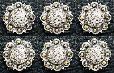 "Berry Concho Silver with Rose Gold Screw Back 1-1//2/"" 7860-NG"