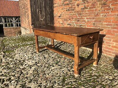 Stunning French 18th century country cherrywood refectory dining kitchen table