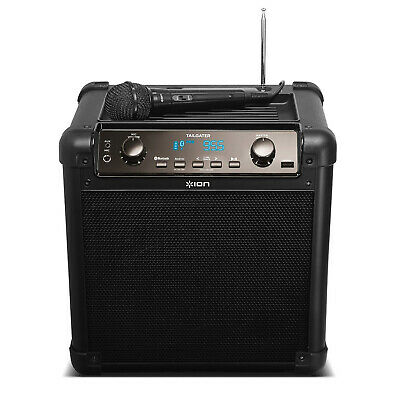 ION Audio Tailgater Plus Portable Bluetooth PA Speaker w/ Mic AM/FM USB 2019