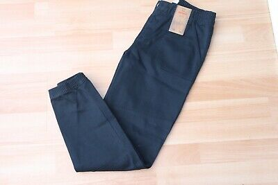 Tesco Florence & Fred Black Elasticated Waist Cuffed Jeans Size 12-13 Yrs Bnwt