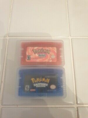 Pokemon Games Fire Red & Sapphire Gba Gameboy Advance Ds Uk