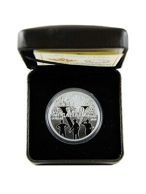 2020 $1 Proof .9999 Fine Silver Dollar Coin - 75th Anniversary of V-E Day - RCM