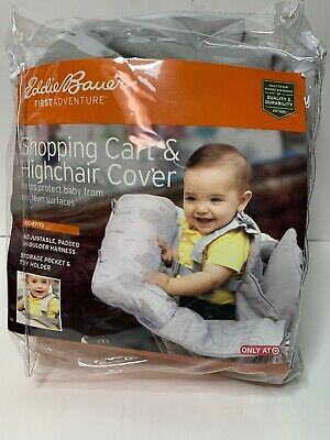Eddie Bauer Baby Toddler Child Shopping Cart High Chair Cover Grey