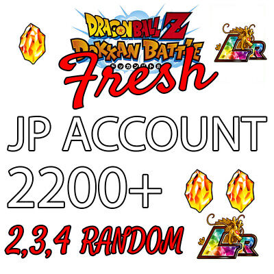 Dokkan Battle Fresh JP with 2200+ Stones and Random LRs - Android only