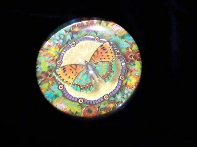 """Vintage Crystal Paperweight Punch Studio Beautiful Butterfly 3 1/2""""Inches in H&L"""