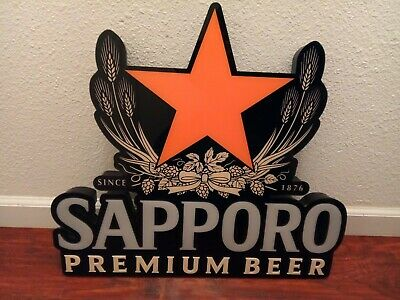Sapporo Premium Beer Lighted Sign,No Power Cord