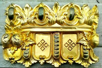 13 Pc Antique Victorian Architectural Gold Tone Cornice Window Ceiling Rare
