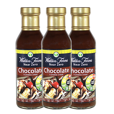 Walden Farms Near Zero Calorie Chocolate Syrups 355ml (Pack of 3)