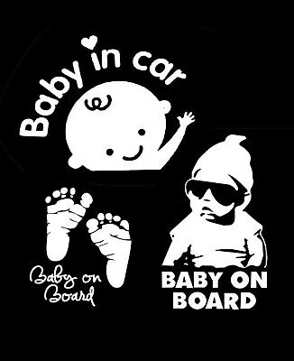 Baby On Board Stickers Reflective Car Vinyl Sign Sticker Signs Kids Safety