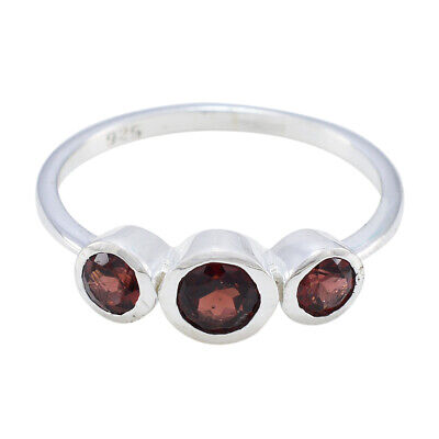 Garnet Jewelry Good Friday Jewelry 925 Sterling Silver Ring Round Garnet Ring UK