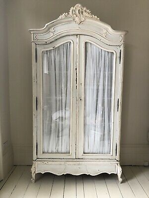 Double Door Bevelled Glass  French Armoire