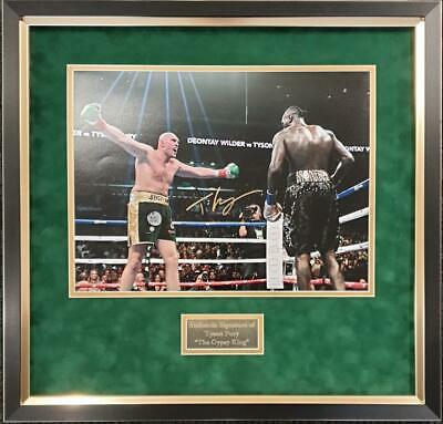 Tyson Fury SIGNED AUTOGRAPH Photo AFTAL UACC RD