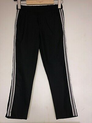 Zara Girls Black Trousers With Contrast Side Stripe Age 11-12 Years Hardly Worn