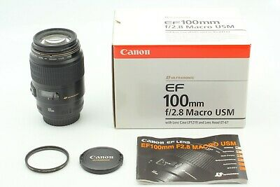 【 TOP MINT IN BOX 】 Canon EF 100mm f/2.8 Macro USM Prime Lens From Japan #56