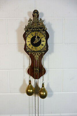Dutch Warmink Wuba Wall Clock Nutwood Dutch Clock