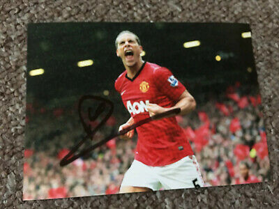 Rio Ferdinand Hand Signed Autograph Photo (OFFERS CONSIDERED) Manchester Utd