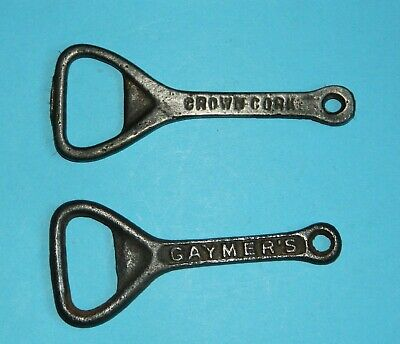 BO11 VINTAGE CAST IRON WALL MOUNTED BOTTLE OPENER ANTIQUE 1930s BRITISH MADE