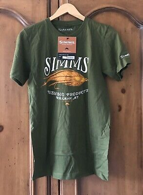 Vintage Simms Fishing Products Mike Stidham T-shirt Taille M