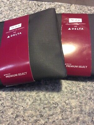 2 Delta Tumi Amenity Kits Black Square Soft Case New Sealed Travel Premium