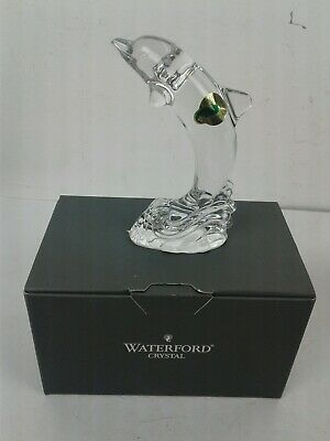 Stunning Waterford Crystal Dolphin Figurine Made In Ireland 114943 New